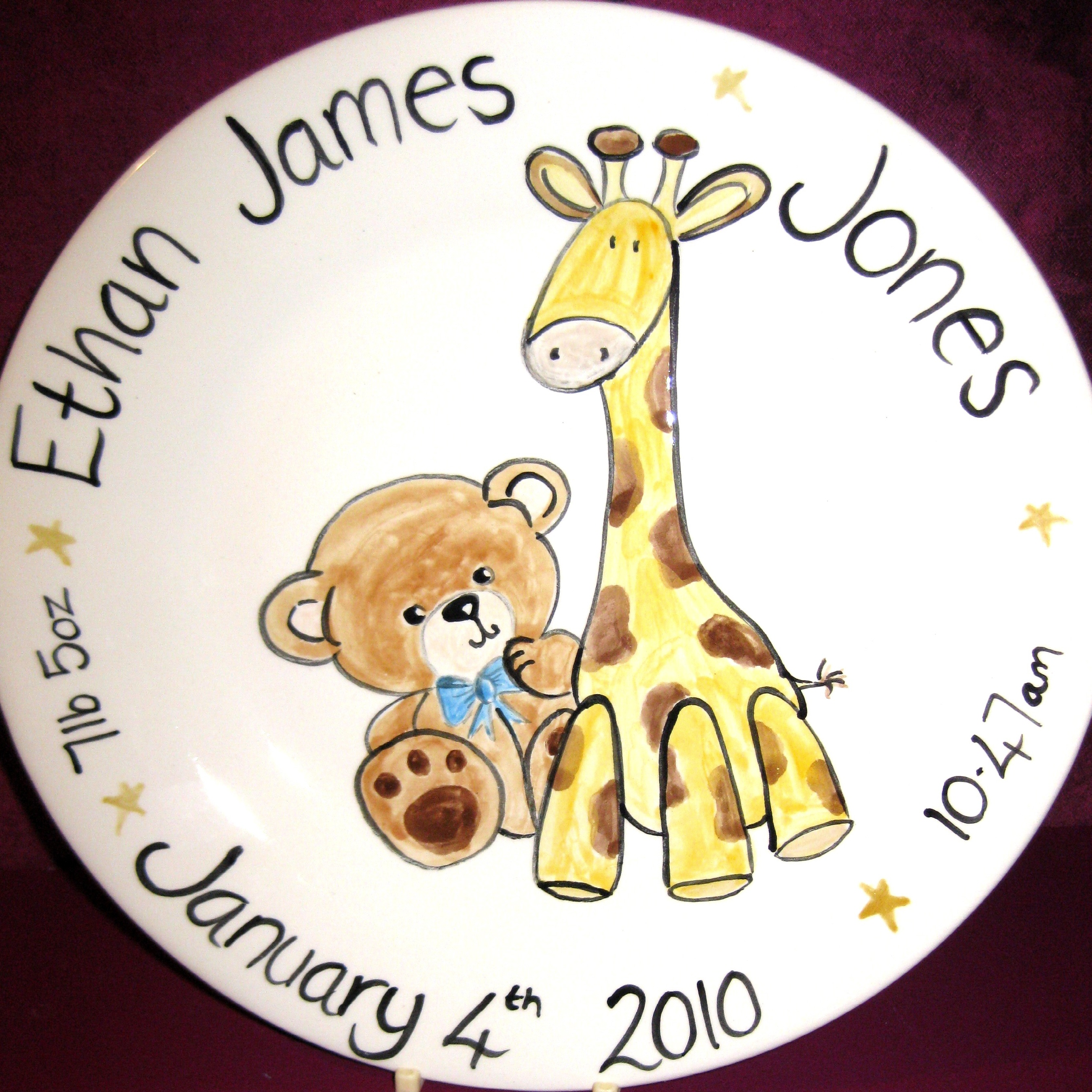 hand painted personalised pottery gifts